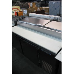Lot 382 - BEVERAGE AIR 2-DOOR REFRIGERATED PIZZA PREP STATION