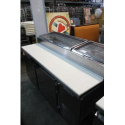 Lot 383 - BEVERAGE AIR 2-DOOR REFRIGERATED PIZZA PREP STATION
