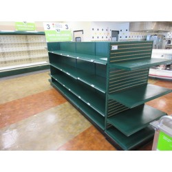 Lot 60 - STREETER GONDOLA SHELVING 10FT RUN W/2 3FT END CAPS - BY THE FOOT