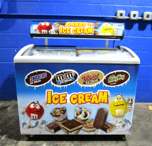 OJEDA CHP-106T COMMERCIAL SLIDE TOP ICE CREAM FREEZER NOVELTY BOX