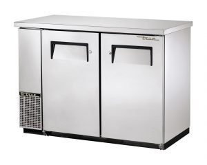 TRUE TBB-24GAL-48-S-HC 2 DOOR STAINLESS STEEL BACK BAR COOLER REFRIGERATOR