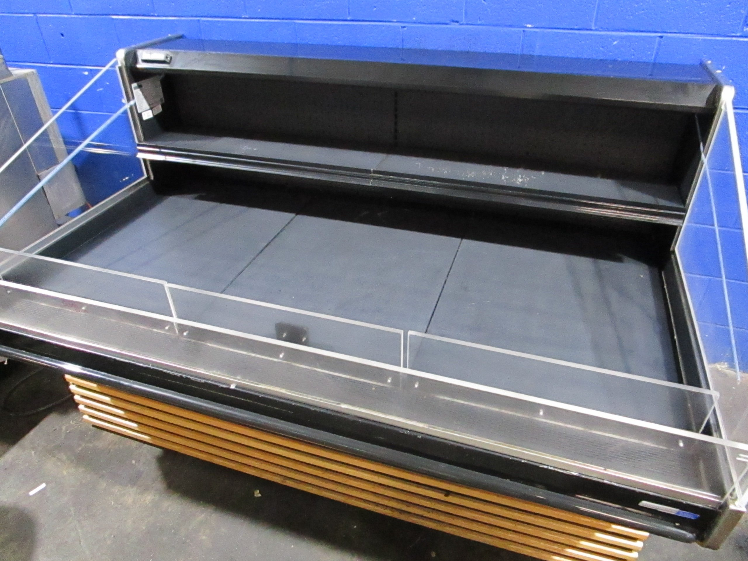 "BARKER  HSC6 74"" OPEN TOP GRAB AND GO COOLER REFRIGERATED MERCHANDISER CASE 2015"