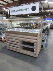 ARNEG SALAD BAR SMALL BUFFET REFRIGERATED COLD FOOD OLIVE MERCHANDISER