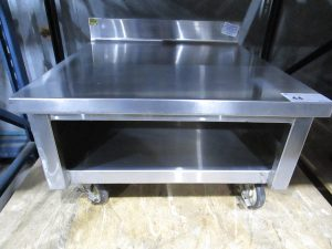 STAINLESS STEEL MOBILE EQUIPMENT / GRILL STAND, 28