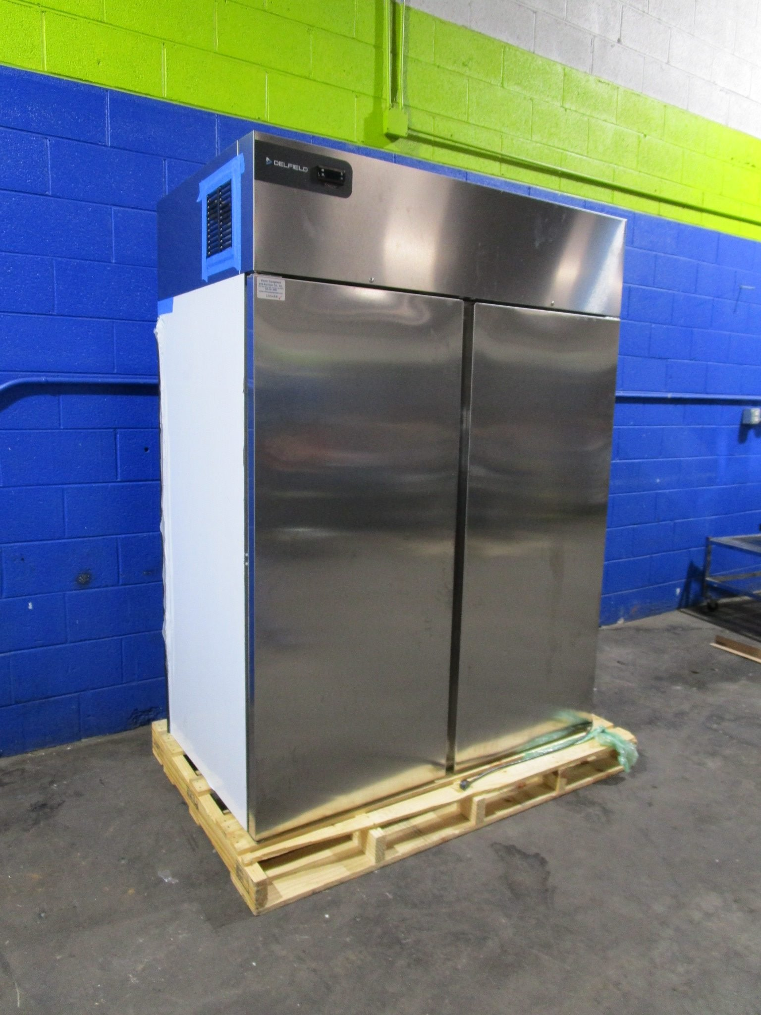 "DELFIELD GBF2P-S 55"" STAINLESS STEEL REACH IN FREEZER 2 SOLID DOOR COMMERCIAL"