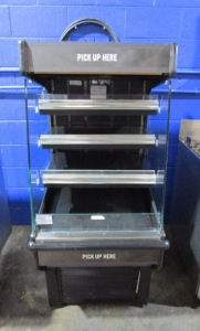 SPECIALTY FABRICATORS REFRIGERATED GRAB AND GO COOLER MERCHANDISER DISPLAY CASE