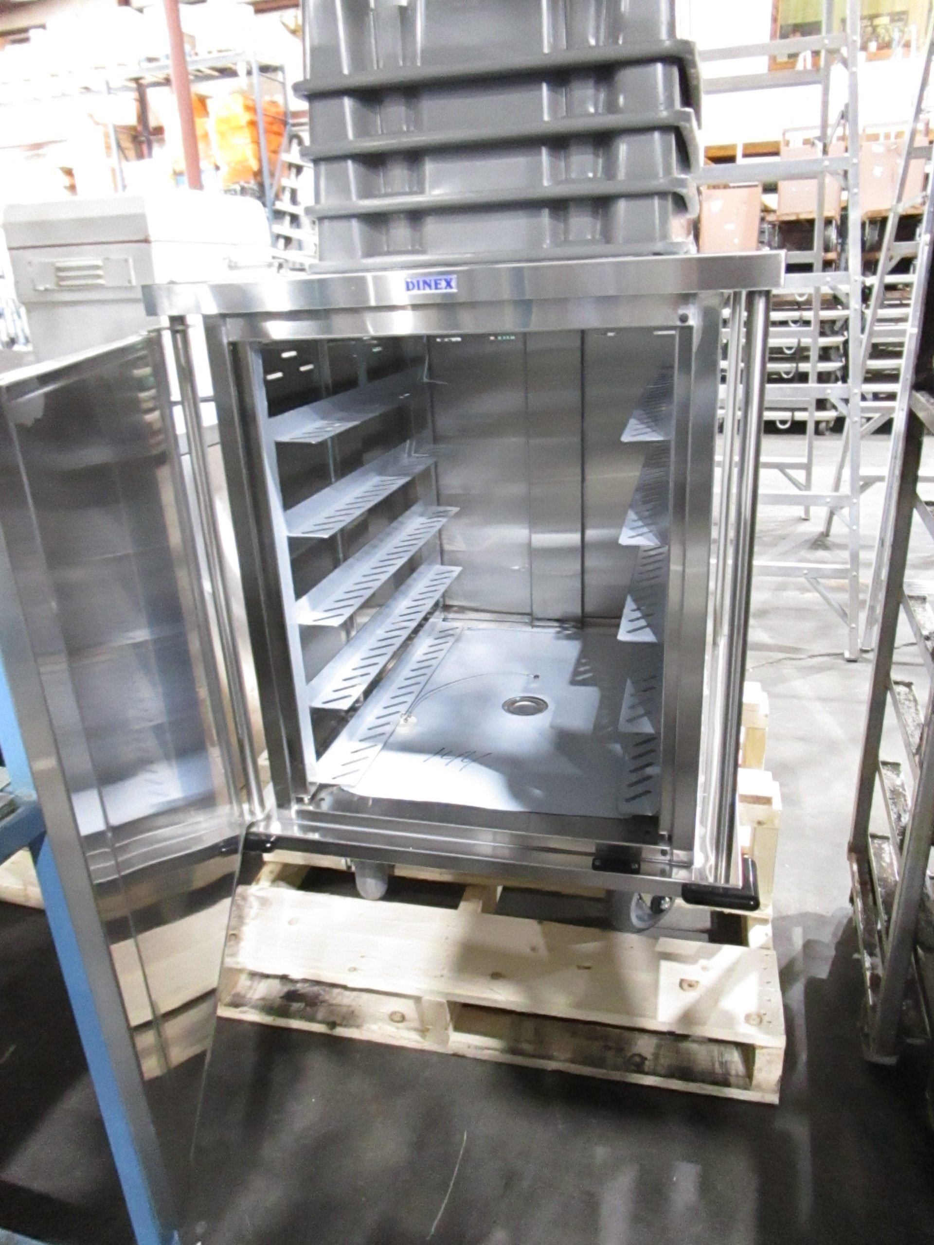 DINEX TQ QUIET CARTS MEAL DELIVERY CART COMMERCIAL 10 TRAY HOLDING CABINET