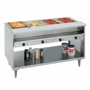 RANDELL 3614 4-WELL HOT FOOD STEAM TABLE BUFFET LINE ELECTRIC 208 - 240V