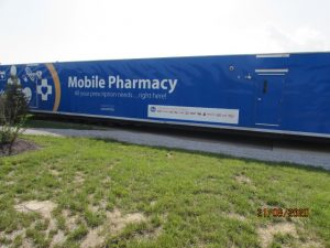 Mobile Pharmacy Facility Trailer 74' Long 855 Sq.Ft.