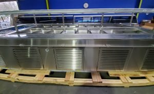 NEW AMTEKCO STAINLESS STEEL DOUBLE SIDED SALAD/BUFFET BAR