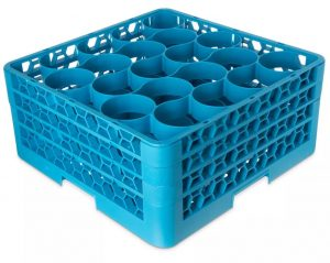 CARLISLE RW20-214 OPTICLEAN 20 COMPARTMENT GLASS RACK W/ 2 EXTENDERS (PACK OF 2)