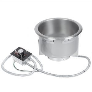 HATCO HWB-11QTD 11QT SINGLE DROP IN ROUND HEATED SOUP WELL WITH DRAIN