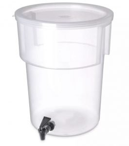 CARLISLE 220930 CLEAR PLASTIC 5 GAL BEVERAGE DISPENSER CONTAINER NO BASE